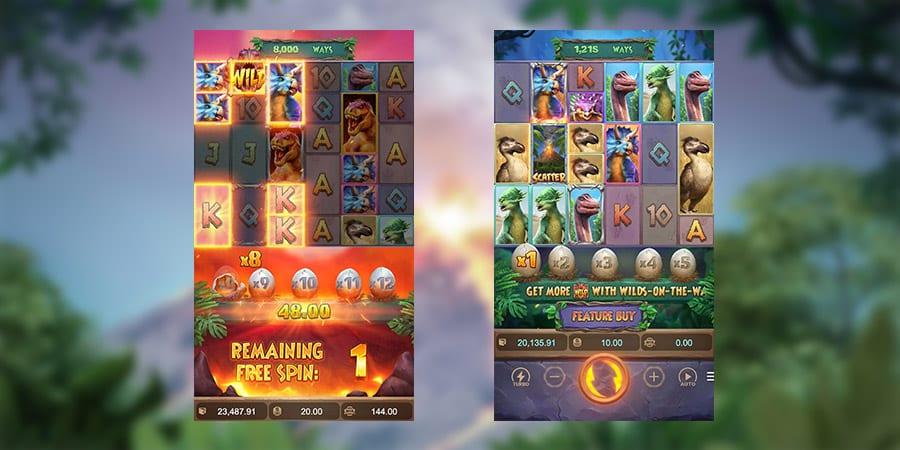 เกมสล็อตแตกง่าย Jurassic Kingdom 1