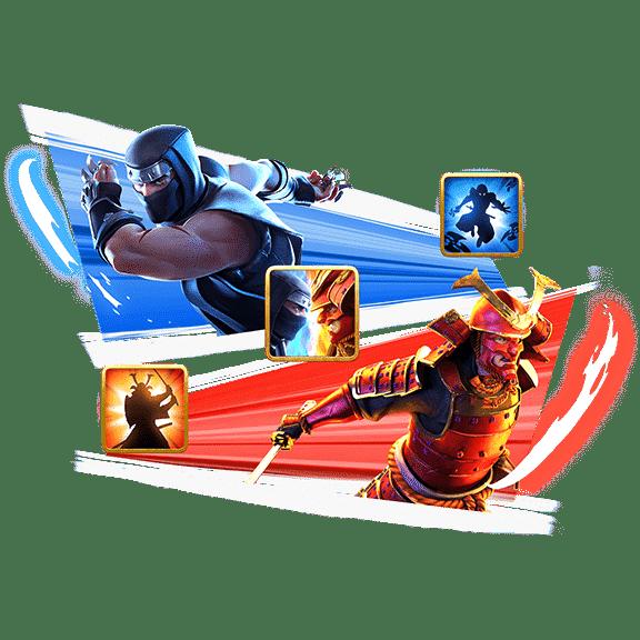 banner ninja vs samurai